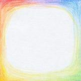 Le crayon abstrait de couleur griffonne le fond. Images libres de droits