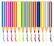 Le crayon colore le vecteur Photos stock