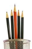 Le crayon le plus pointu dans le bac photos libres de droits
