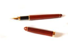Le crayon lecteur d'homme d'affaires Photographie stock libre de droits