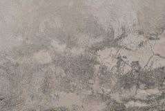 Le crepe in vecchio gesso murano, pittura scheggiata, stile del paesaggio, fondo grigio, struttura Immagini Stock Libere da Diritti