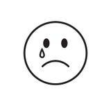 Le cri de visage de bande dessinée déchire l'icône d'émotion de personnes illustration libre de droits