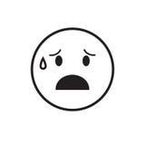 Le cri de visage de bande dessinée déchire l'icône d'émotion de personnes illustration stock