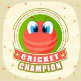 Le cricket folâtre le concept avec la boule rouge Images stock