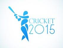 Le cricket folâtre le concept avec le batteur Photographie stock libre de droits