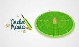 Le cricket folâtre le concept avec le tir de batte et de boule Photos libres de droits