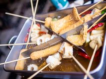 Le crocchette di pesce coreane sono chiamate Odeng immagine stock
