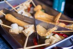 Le crocchette di pesce coreane sono chiamate Odeng fotografia stock libera da diritti