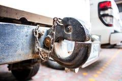 Le crochet de remorquage dans un camion photo stock