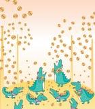 Le crocodile mangent l'argent illustration stock