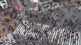 Le croisement de Shibuya est l'un des passages pi?tons les plus occup?s au monde banque de vidéos