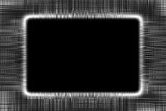 Le croisement noir et blanc raye le cadre Image libre de droits