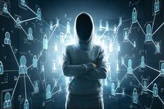Le croisement remet le pirate informatique Image libre de droits