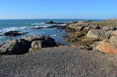Le Croisic Segla utmed kusten Arkivfoton