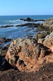 Le Croisic Segla utmed kusten Arkivfoto