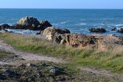 Le Croisic Segla utmed kusten Fotografering för Bildbyråer