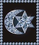 Le croissant islamique et le ` juif s de David tiennent le premier rôle des symboles, vecteur illustration de vecteur