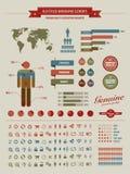 Le cru de qualité a dénommé des éléments d'infographics Photos libres de droits