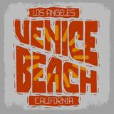 Le cru de Venice Beach Los Angeles la Californie a influencé le type de inscription tiré par la main Treatmen typographique de ré illustration stock
