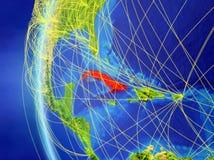 Le Cuba de l'espace avec le réseau illustration stock