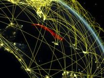 Le Cuba de l'espace avec le réseau illustration libre de droits