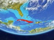 Le Cuba de l'espace sur terre illustration libre de droits