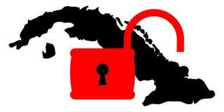 Le Cuba et les Etats-Unis illustration de vecteur