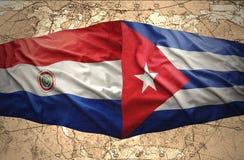 Le Cuba et le Paraguay illustration de vecteur