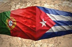 Le Cuba et le Portugal illustration libre de droits