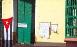 LE CUBA 4 FÉVRIER 2013 : Bureau de vote images stock