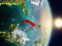 Le Cuba pendant le lever de soleil illustration libre de droits