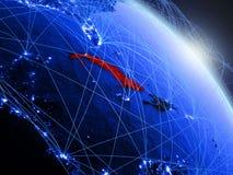 Le Cuba sur le globe numérique bleu bleu illustration libre de droits