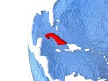 Le Cuba sur le globe Photo libre de droits