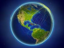Le Cuba sur terre avec des réseaux illustration de vecteur