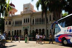 Le Cuba : Vieux palais de Batistas San Valle dans Cienfuegos image libre de droits