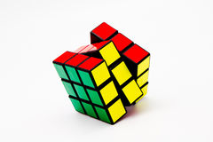 Le cube de Rubik résolu Photo stock