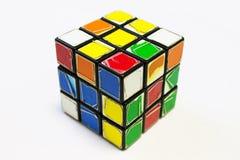 Le cube de vieux Rubik Image libre de droits