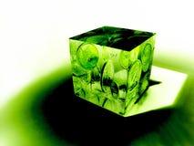 Le cube en argent Image libre de droits