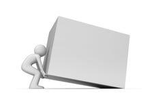 Le cube lourd soulèvent vers le haut l'espace de copie Images libres de droits