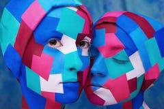 Le cubisme a dénommé des dames Photo stock