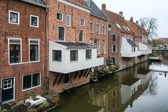 Le cucine d'attaccatura famose sopra il canale Damsterdiep nella D fotografia stock