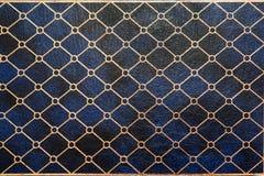 le cuir noir a ajusté la texture Photo stock