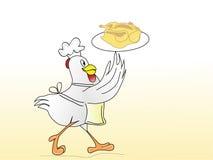 Le poulet est servi Photo stock
