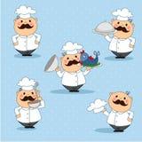 Le cuisinier est dans la cloche Photo stock
