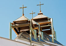 Le cupole della chiesa cattolica greca Fotografie Stock