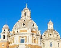 Le cupole delle chiese di Nome di Maria o la chiesa del Immagine Stock