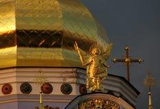 Le cupole dorate di Kyiv, Ucraina Kiev Fotografie Stock Libere da Diritti