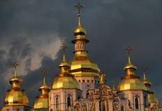 Le cupole dorate famose di Kyiv, Ucraina - Kiev Fotografie Stock Libere da Diritti