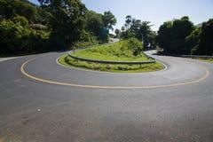 Le curve stradali fotografie stock