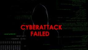 Le Cyberattack a échoué, tentative infructueuse d'entailler le serveur, criminel déçu photo stock